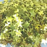 Confettis étoiles dorées or