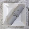 Serviettes voie sèche (x25) gris anthracite