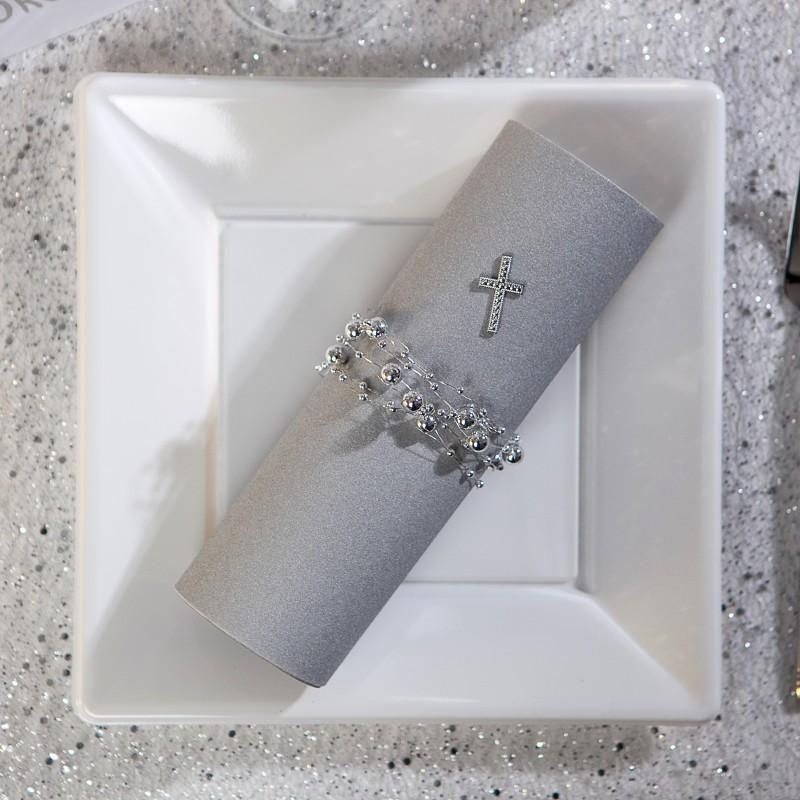 serviettes voie s che x25 gris anthracite. Black Bedroom Furniture Sets. Home Design Ideas