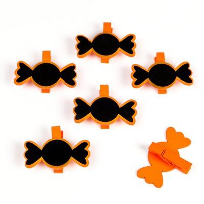 Bonbons sur pince (x 6) orange