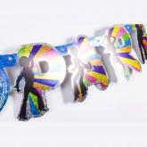 Guirlande en lettres découpées disco type