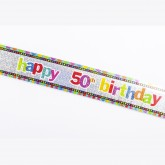 Bannière âge Happy birthday 50