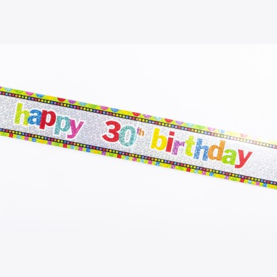 Bannière âge Happy birthday 30