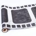 Chemin de table cinéma noir/argent