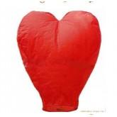 Lanterne à vœux cœur rouge