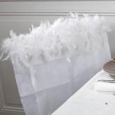 Housse de chaise plumes (x1) blanc