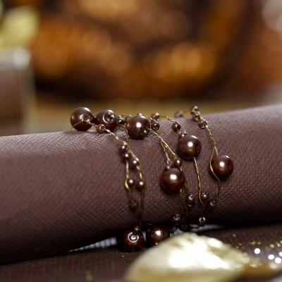Serviettes voie sèche (x25) chocolat