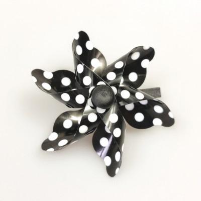Pinces moulin à vent (x4) noir / blanc
