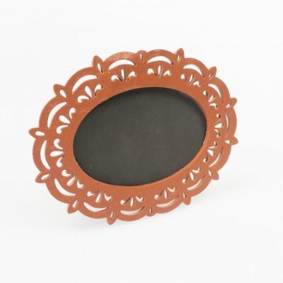 Ardoises cadre baroque (x2) chocolat