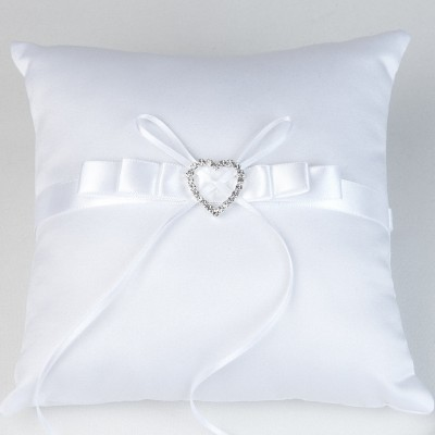 Coussin  dalliances strass blanc