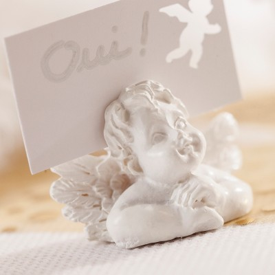 Anges marque-places (x4) blanc