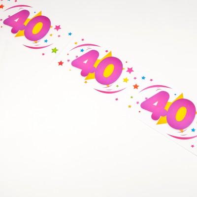 Bannière âge 40