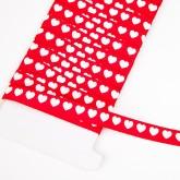 Ruban cœurs blanc rouge