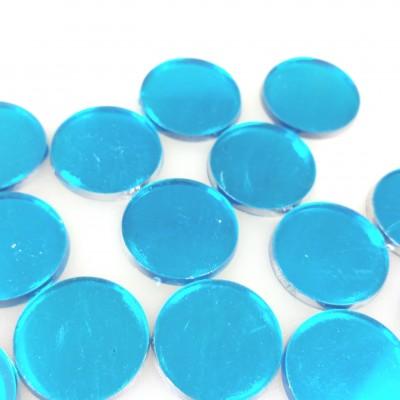 Pastilles miroir (x48) turquoise