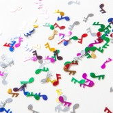Confettis notes de musique multicolore