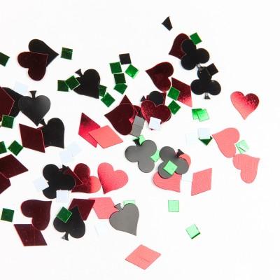 Confettis de table casino