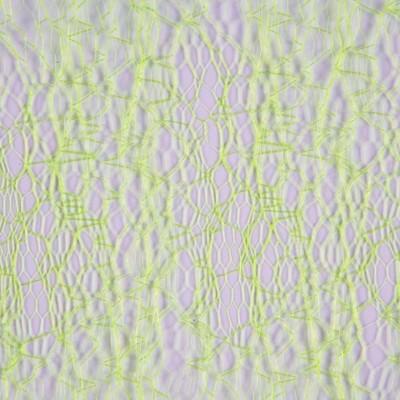 Chemin de table en fibres tissées vert anis