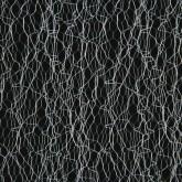 Chemin de table en fibres tissées argent