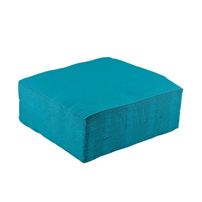 Serviettes cocktail (x40) turquoise