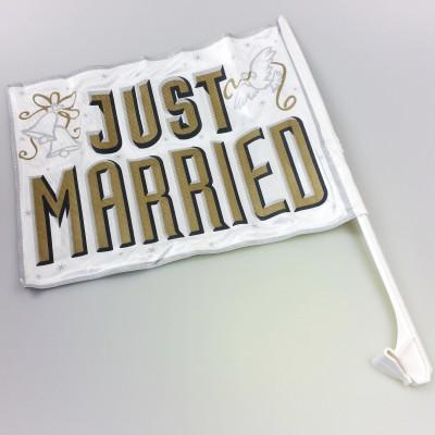 Drapeau de voiture Just Married type