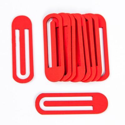 Pince trombone rouge (x10)