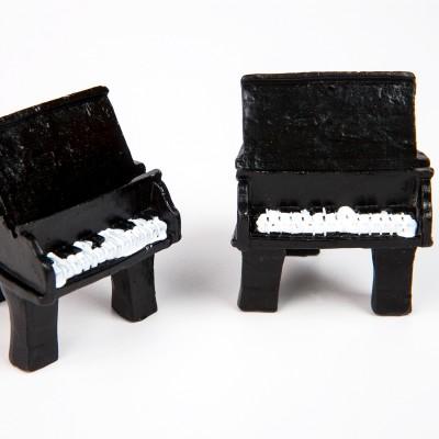 Marque-places piano (x2) noir / blanc