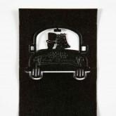 Marque-places voiture de mariés (x6) noir