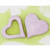 Coeurs gomme déco parme (x12)