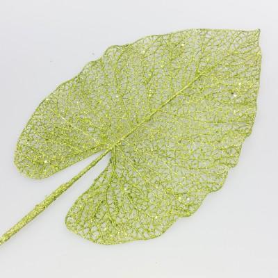 Grandes feuilles de bananier pailletées (x2) vert anis