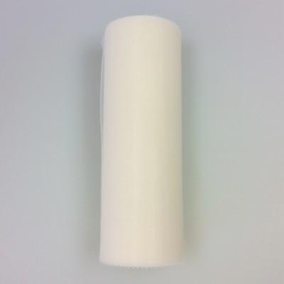 Bande de tulle L.15 cm ivoire