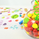 Chemin de table candy bar type
