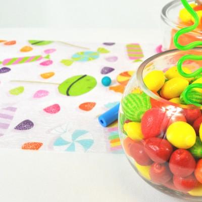 Chemin de table candy bar type