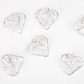 Mini coeurs fil (x6) argent
