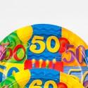 Assiettes à dessert âge 50 (x8)