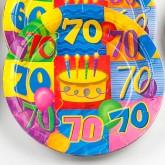 Assiettes à dessert âge 70 (x8)