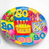 Assiettes à dessert âge 80 (x8)