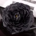 Fleurs glamour noir (x2)