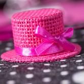 Chapeaux à garnir fuchsia (x4)