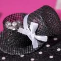 Chapeaux à garnir noir (x4)