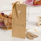 Cartons à vœux or (x6)
