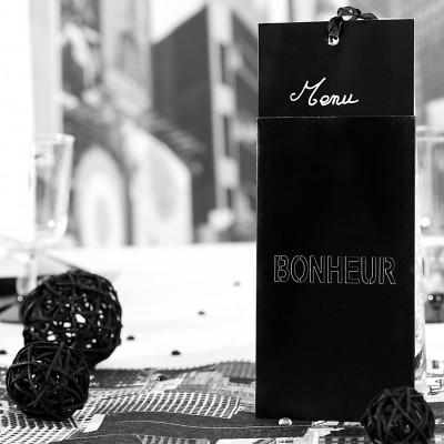 Cartons à vœux noir (x6)