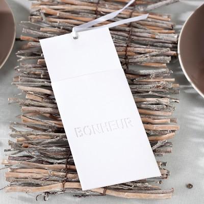 Cartons à vœux blanc (x6)