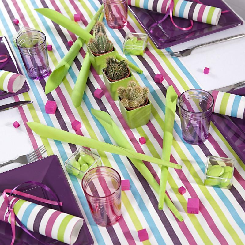 Chemin de table ray multicolore pr d coup - Deco table multicolore ...