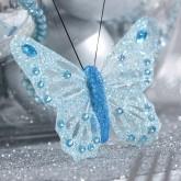 Papillons magiques (x6) bleu