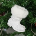 Botte de père Noël blanche