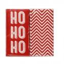 """Serviettes duo en papier de Noël """"Ho ho ho"""" (x20)"""