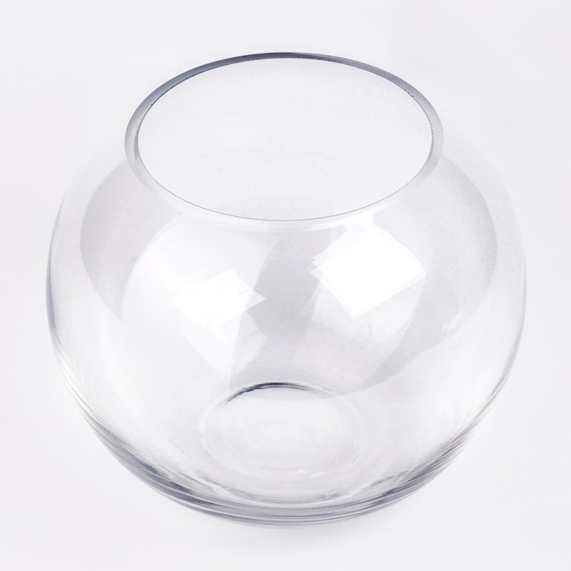 vase boule en verre transparent. Black Bedroom Furniture Sets. Home Design Ideas
