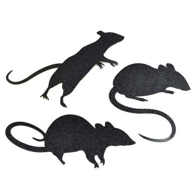 Silhouettes de rats (x9)
