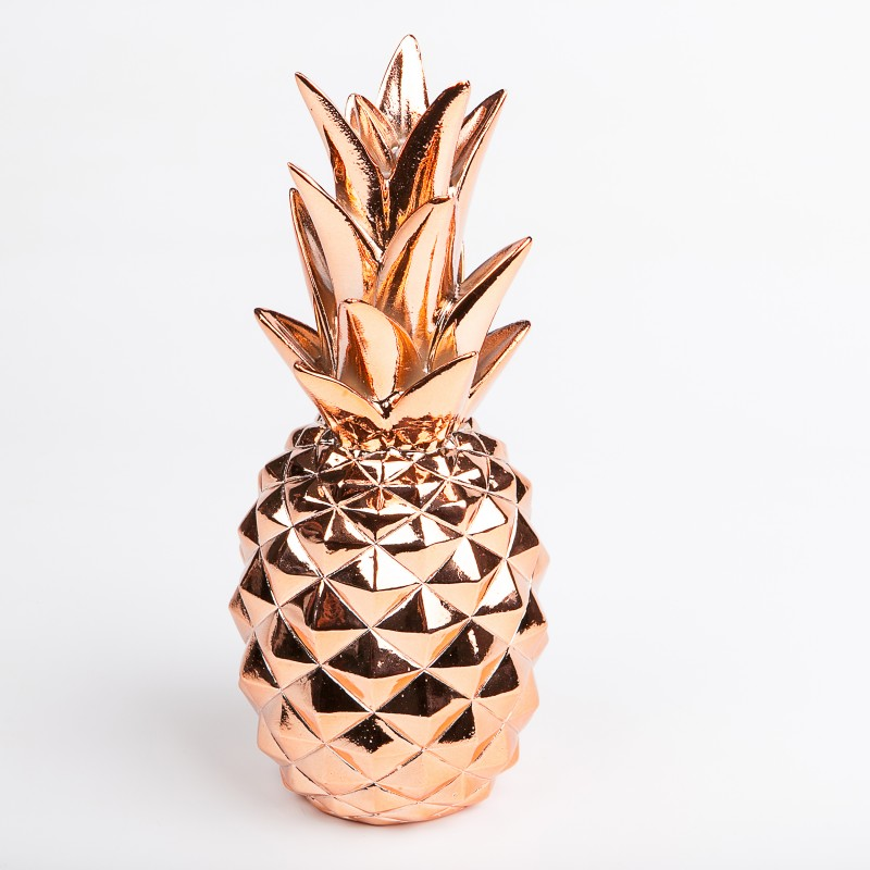 Grand ananas d co cuivre for Petit ananas deco