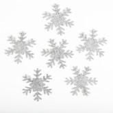 Flocons feutre gris (x6)